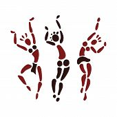pic of primitive  - Figures of African dancers - JPG