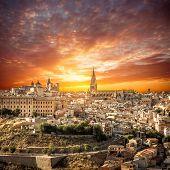 foto of parador  - Toledo over sunset - JPG