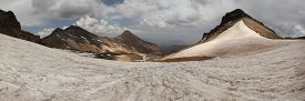 picture of armenia  - Volcanic crater of Mount Aragats  - JPG