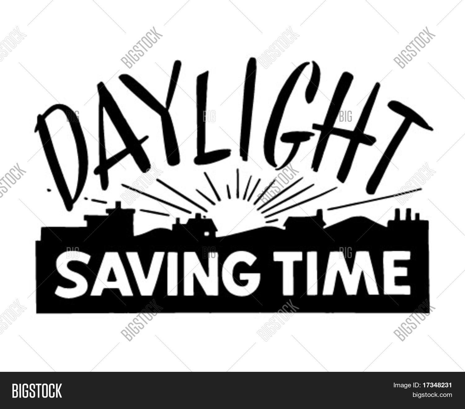 Clip Art Daylight Savings Clipart daylight saving time ad banner retro clipart stock vector clipart