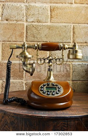 Vintage Luxurious Telephone Old Fashion