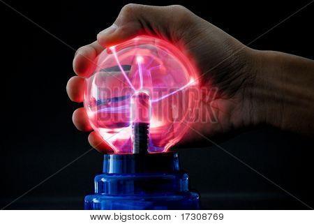 Tesla Ball Emitting Electrical Currents