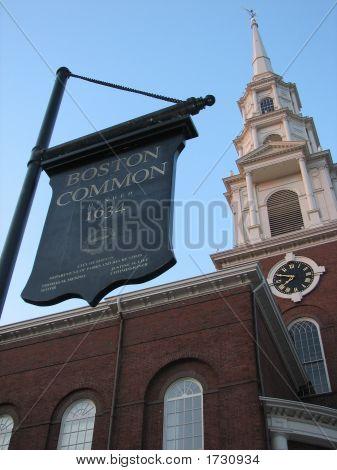 Boston Common - Park Street Church