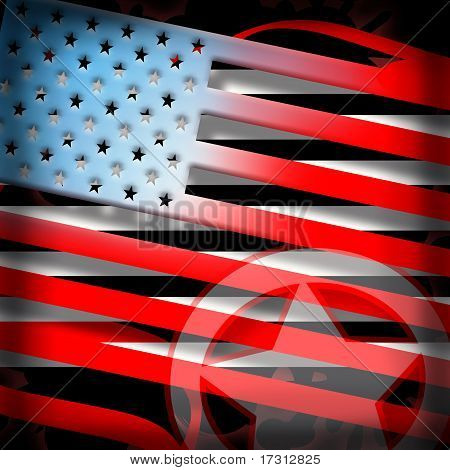 American flag styled background