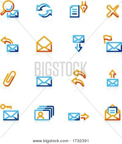 Color Contour Web-Mail Icons