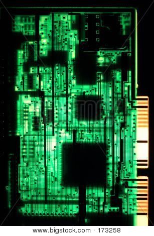 Backlit Circuitboard