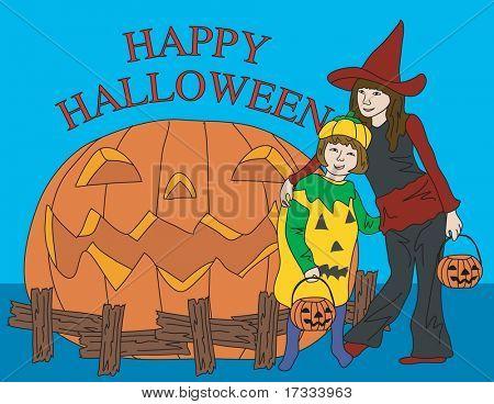Halloween e meninas engraçadas
