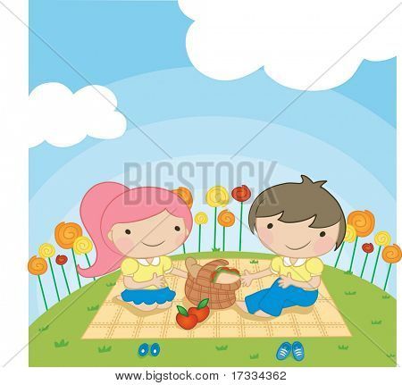 Enjoy Picnic and Happy Days