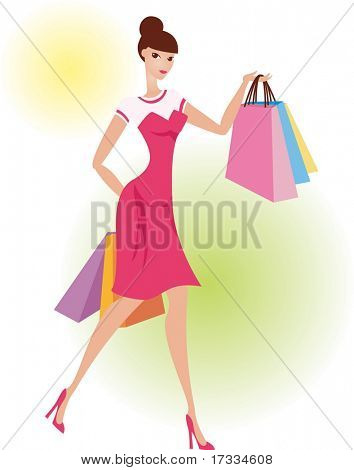Happy Shopping with Attractive Girls
