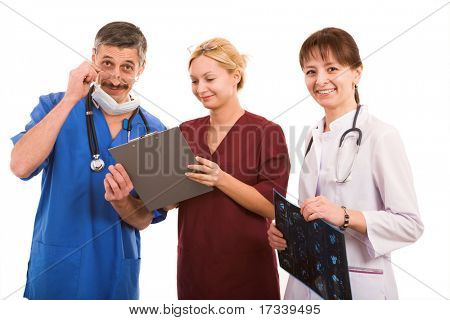 smiley doctor and her medical team