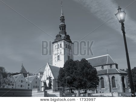 Niguliste Church In Tallinn Estonia