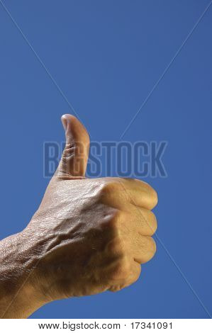 man hand showing o'key