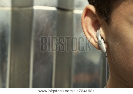 teen with head-phones