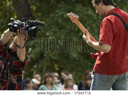 Live rock-n-roll concert