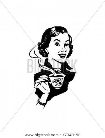 Señora café - Retro Clip Art