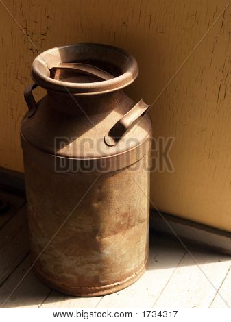 Old Milk Can