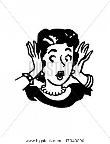 Oh My Gosh - I left the casserole in the oven! - Retro Clip Art
