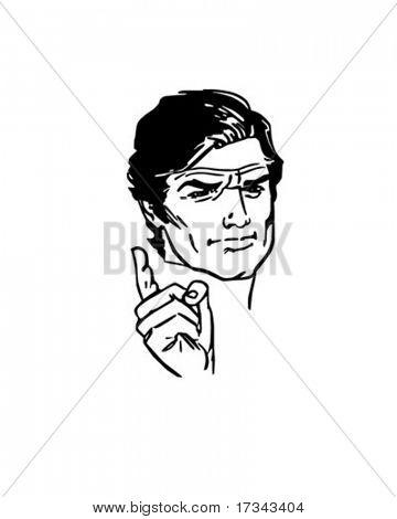 Angry Man - Retro Clip Art