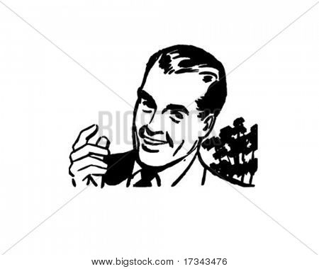 Man Talking - Retro Clip Art
