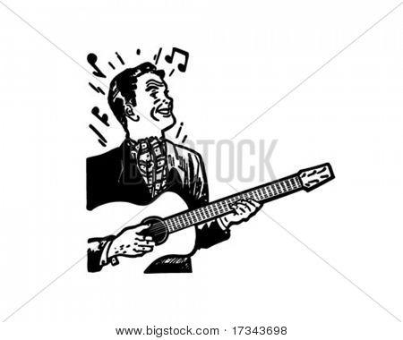 Guitarrista - Retro Clip Art