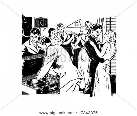 Frat Party - Retro Clip Art