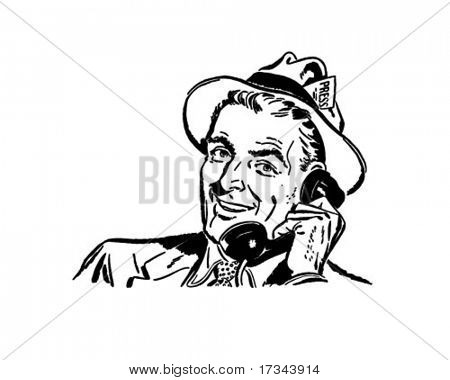 Press Reporter - Retro Clip Art