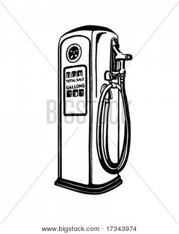 Gas Pump - Retro Clip Art