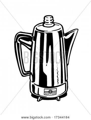 Coffee Percolator - Retro Clip Art