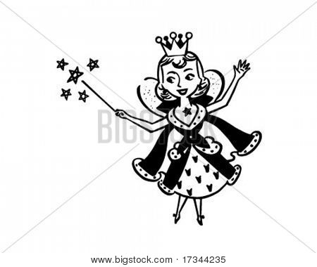 Fairy Housewife - Retro Clip Art