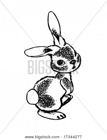 Rabbit - Retro Clip Art