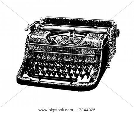 Alte Schreibmaschine - Retro ClipArt