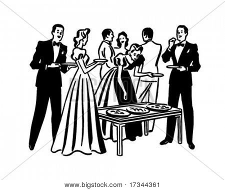 Cocktail Party - Retro Clip Art