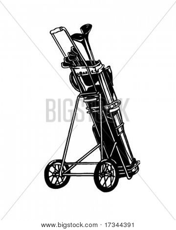 Golf Club Set - Retro Clip Art