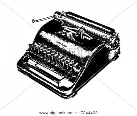 Manual Typewriter - Retro Clip Art
