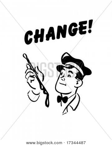Change - Service Station Mechanic - Retro Clip Art