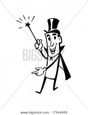 Mister Magic - Retro Clip Art