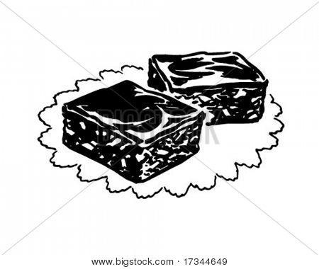 Brownies - Retro Clip Art Stock Vector & Stock Photos | Bigstock