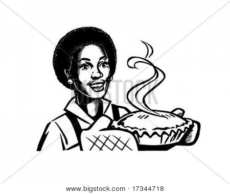 Fresh Baked Pie 2 - Retro Clip Art