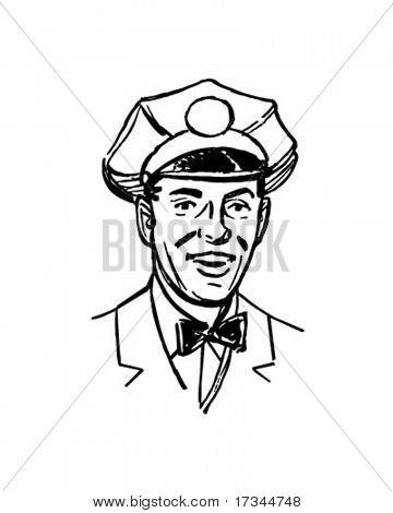 Service Man - Retro Clip Art