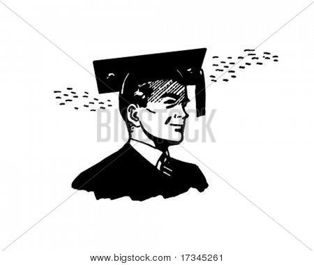 Proud Graduate - Retro Clip Art