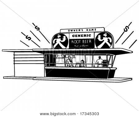 Root Beer Stand - Retro ClipArt