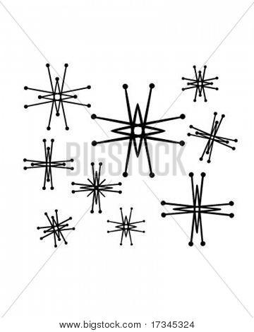 Retro Stars 6 - Clip Art