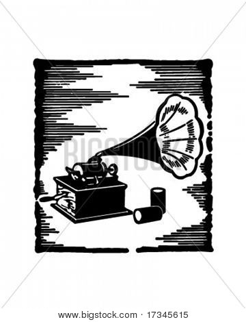 Phonograph - Retro Clip Art