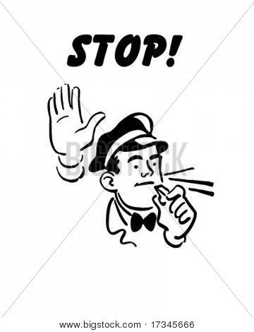 Stop! - Service Station Mechanic
