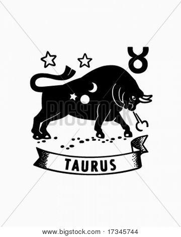 Zodiac - Taurus - Retro Clip Art