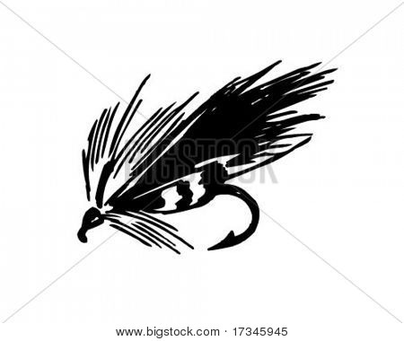 Fishing Fly 1 - Retro Clip Art