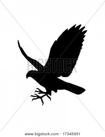 Falcon Silhouette - Retro Clip Art