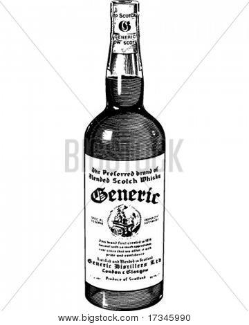 Scotch Whiskey - Retro Clip Art