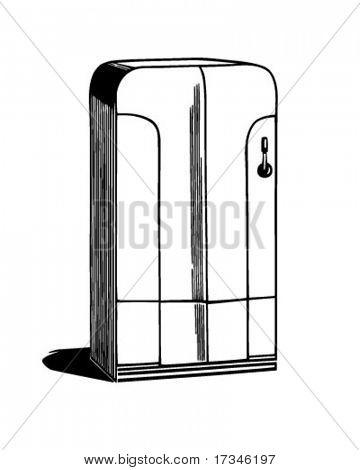Refrigerator - Retro Clip Art