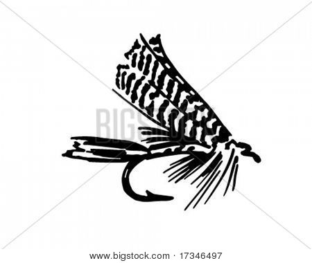Fishing Fly 6 - Retro Clipart